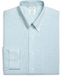 Brooks Brothers Non-Iron Milano Fit Alternating Windowpane Dress Shirt - Lyst