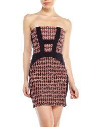 Maje Strapless Jacquard Dress - Lyst