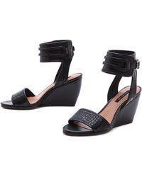 Rachel Zoe - Norah Ankle Strap Wedge Sandals - Lyst