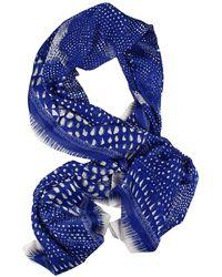 Roberto Cavalli Armadillo Printed Silk 70X180 Stole Foulard - Lyst
