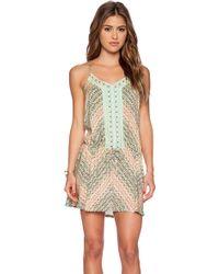 Nanette Lepore Paso Robles V Neck Mini Dress multicolor - Lyst