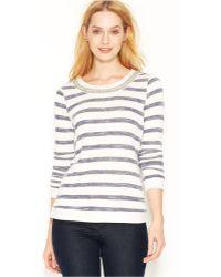 Maison Jules - Long-sleeve Embellished Sweatshirt - Lyst