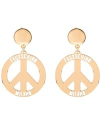 Moschino - Fauxschino Peace Sign Earrings - Lyst