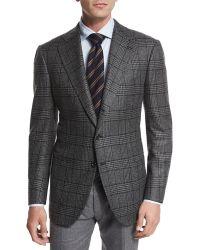 Cesare Attolini - Striped Wool-blend Tie - Lyst