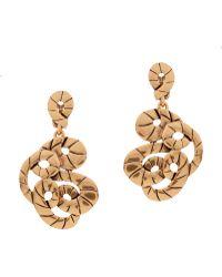 Oscar de la Renta Swirl Rope Earrings - Lyst
