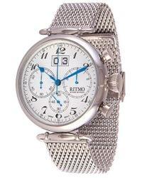 Ritmo Mundo - 'vintage' Chronograph Mesh Strap Watch - Lyst