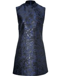 Mary Katrantzou Silk Blend Jacquard A-line Dress - Lyst