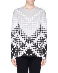 Alexander Wang Woven Pattern Intarsia Knit Sweater - Lyst