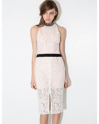 Pixie Market Diana Midi Lace Dress - Lyst