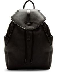 Alexander McQueen Black Stippled Skull Backpack - Lyst