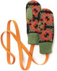 Tak.ori Merino Wool Flower Pattern Mittens - Lyst