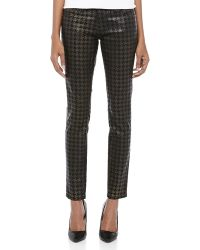 Current/Elliott The Ankle Skinny Houndstooth Jeans - Lyst