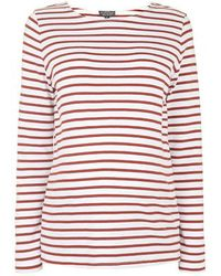 Topshop Maternity Striped Top red - Lyst