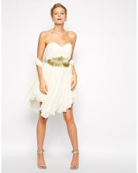 Forever Unique Radiance Embellished Bandeau Dress - Lyst