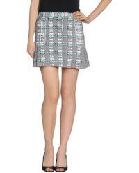 Thom Browne Mini Skirt - Lyst