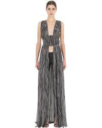 Larusmiani - Snake Printed Silk Georgette Dress - Lyst