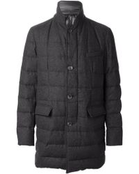 Herno Gray Padded Coat - Lyst