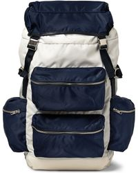 Tim Coppens - Leather-Trimmed Canvas Backpack - Lyst