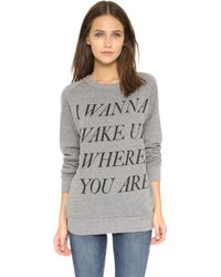 Chrldr Wake Up Sweatshirt - Heather Grey - Lyst