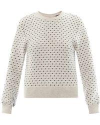 Sophie Hulme - Mirco Spot-Intarsia Cotton-Knit Sweater - Lyst