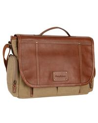 Tommy Bahama - Canvas & Leather Messenger Bag - Lyst