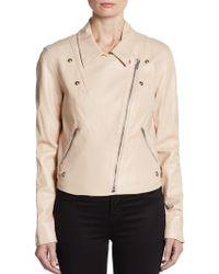 Sachin & Babi Salma Twillpaneled Leather Moto Jacket - Lyst