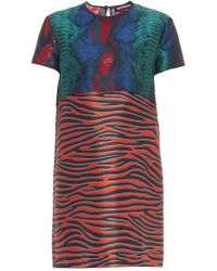 House of Holland Snakeskin And Zebra-Print Dress - Lyst