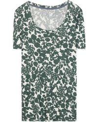 Tory Burch Ester Printed Cotton T-Shirt - Lyst
