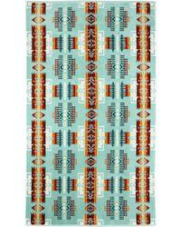 Pendleton - Chief Joseph Aqua Oversized Jacquard Towel - Lyst