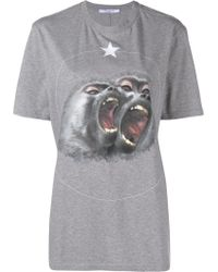 Givenchy - Twin Monkeys-print T-shirt - Lyst