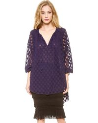 Jean Paul Gaultier Long Sleeve Tunic Top Iris - Lyst