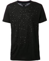John Richmond Arrow Detail T-shirt - Lyst