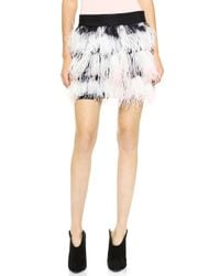 Milly Feather Mini Skirt  - Lyst