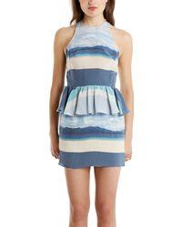 Charlotte Ronson Peplum Mini Dress - Lyst