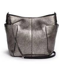 Jimmy Choo 'Annabelle' Metallic Leather Shoulder Bag - Lyst