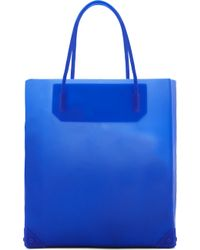 Alexander Wang Blue Silicon Prisma Tote Bag - Lyst
