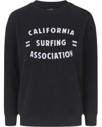 Topshop | Petite California Surfing Motif Sweatshirt | Lyst