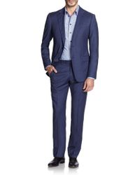 Armani Striped Wool Suit - Lyst