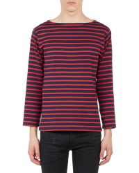Saint Laurent Blue Stripe Sweater - Lyst