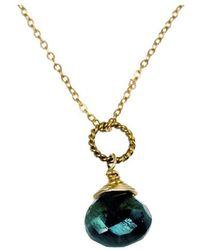 Rafia - May Birthstone Necklace - Lyst