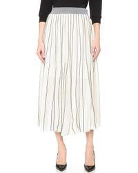 Edition10 - Pinstripe Long Skirt - Lyst