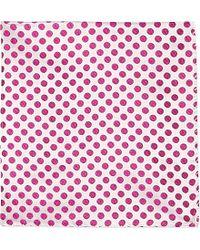 Duchamp Polka-Dot Pocket Square - For Men - Lyst