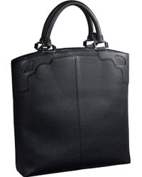 Cartier - Saddle-stitched Leather Tote - For Men - Lyst