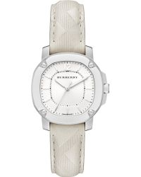 Burberry Britain Stainless Steel & Check Leather Strap Watch/Stone - Lyst