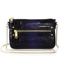 MILLY - Callan Crocodileembossed Leather Mini Shoulder Bag - Lyst