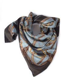 Gucci Blue Foulard - Lyst