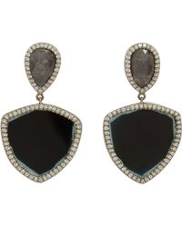 Monique Pean Atelier - Diamond & Tourmaline Drop Earrings - Lyst