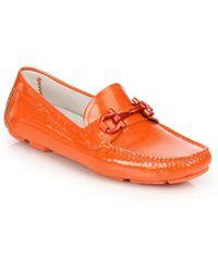 Ferragamo | Parigi Patent Leather Bit Loafers | Lyst