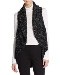 Karen Kane Asymmetrical Sweater Vest - Lyst