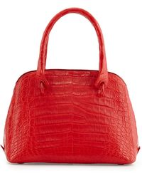 Nancy Gonzalez Small Dome Crocodile Satchel Bag - Lyst